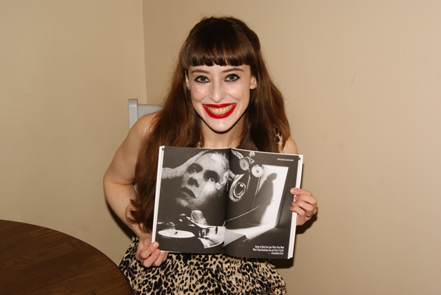 Gwendolyn with Bowie artwork